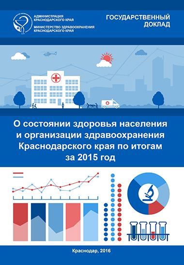 Государственный доклад «О состоянии здоровья населения и организации здравоохранения Краснодарского края по итогам за 2015 год»